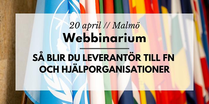 Webbinarium // Så blir du leverantör och partner till FN och hjälporganisationer