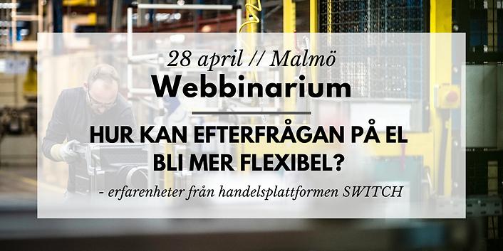 Webbinarium // Hur kan efterfrågan på el bli mer flexibel?
