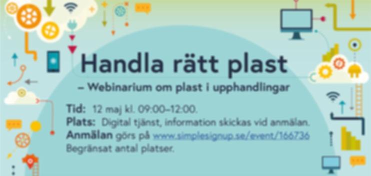 Webbinarium // Handla rätt plast-om plast i upphandlingar