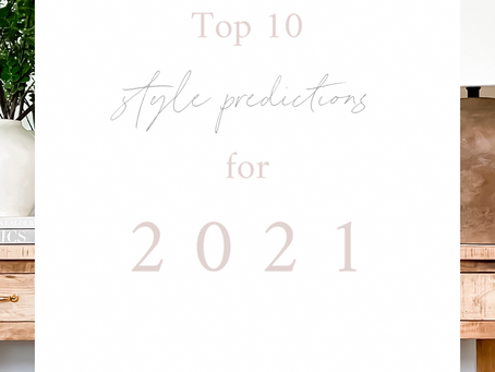 Top 10 Style Predictions for 2021