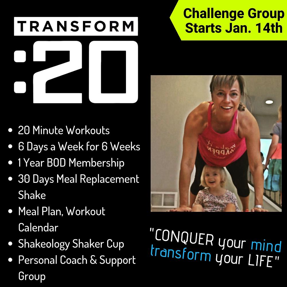 transform 20 challenge group