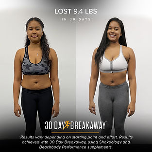 30 day breakaway before and after