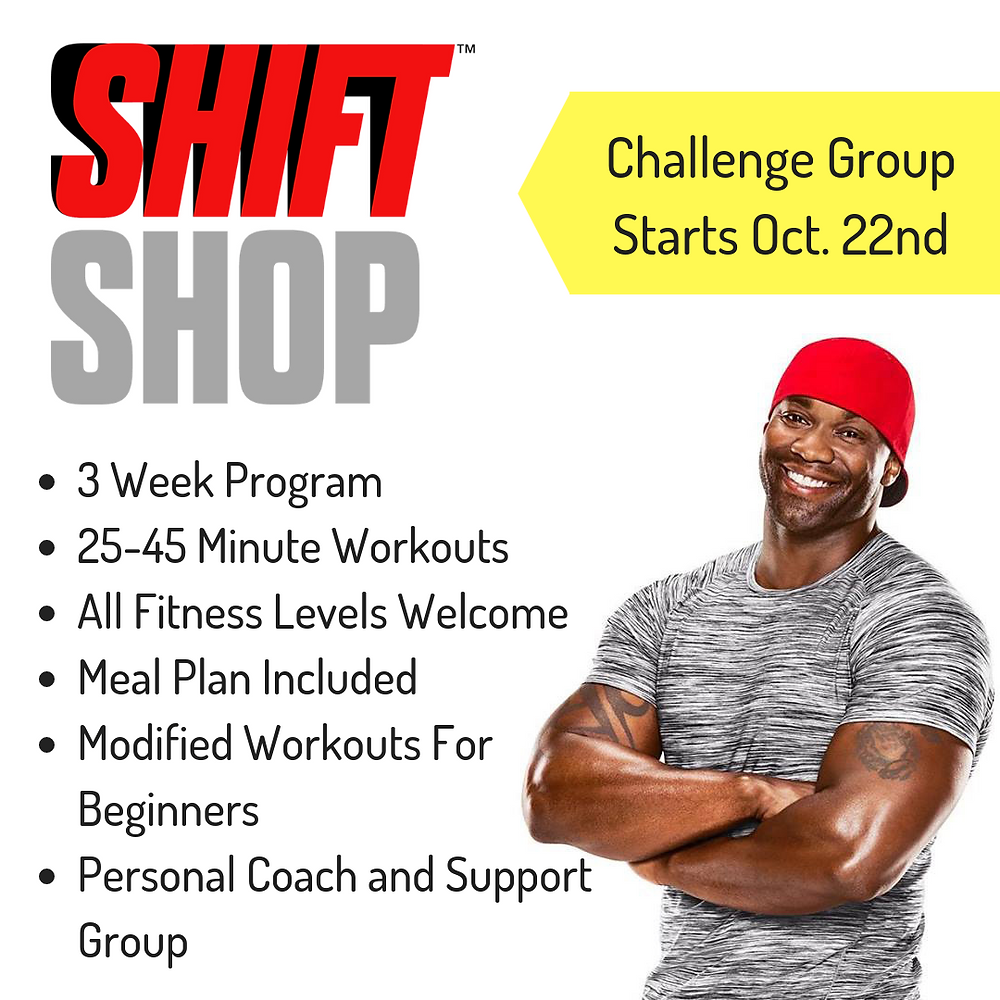 shift shop 3 week program with meal plan and personal fitness coach