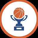 איקון גביע עם כדורסל