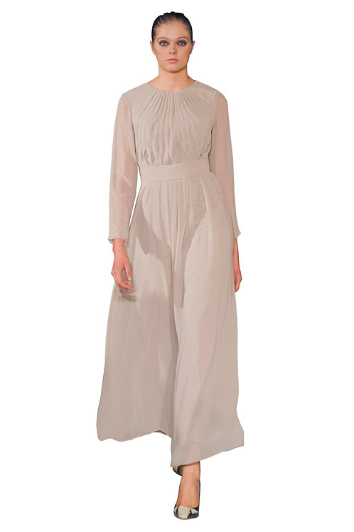 Empire Line Pleated Gown