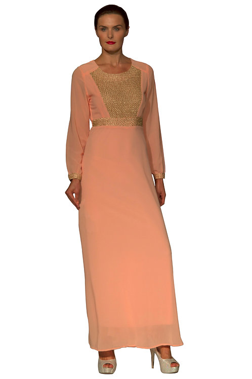 Blush Georgette Embellished Dress