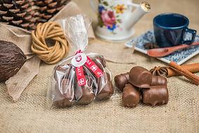 Paçoquinha com chocolate