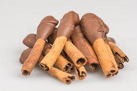 Canela com chocolate