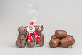 Paçoquinha banhada com chocolate