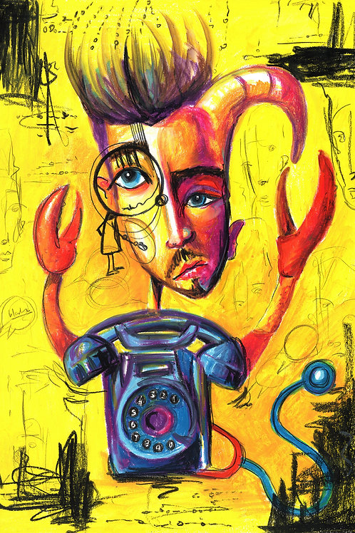 Make My Telephone Ring - Original Painting