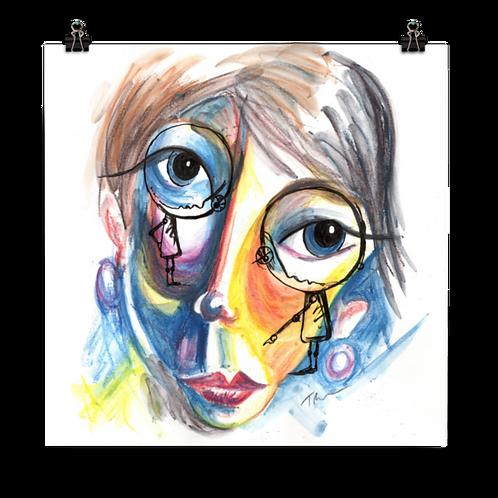 Conversation with Myself - Art Print