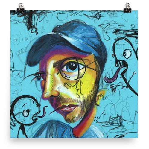 Graffiti Man - Art Print