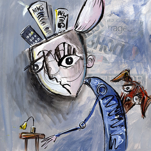 Filling your Head with Rubbish - Original Painting