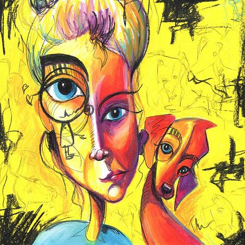 Woman's Best Friend - Original Painting