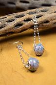 Brass & Swarovski Crystal Earrings