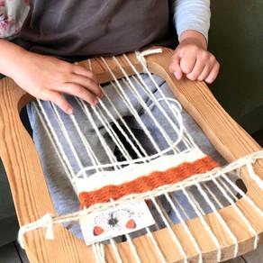 Weaving in our May Tree Kindergarten