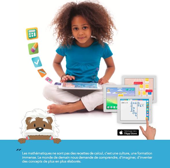 Application myBlee Math - Mathématiques App Store - Apprendre les mathématiques aux enfants - Intéractif