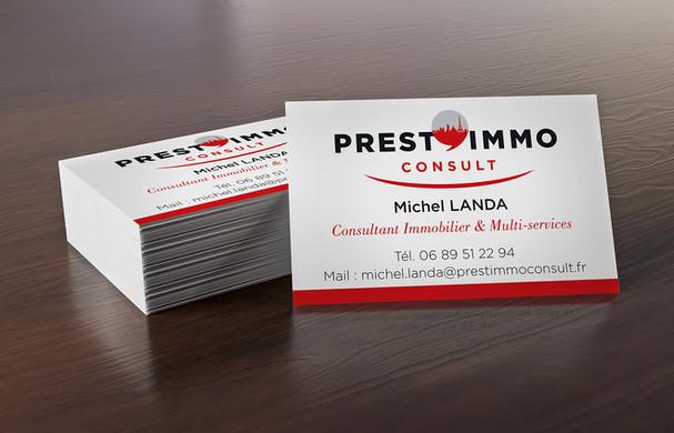 Cartes de visites Prest'Immo Consult