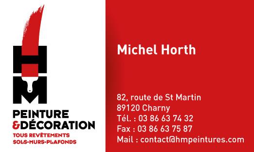 Cartes de visites Michel Horth