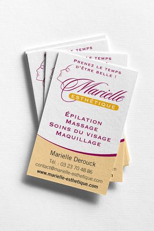 Cartes de visite Marielle Esthetique