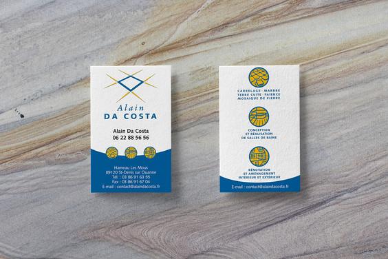 Cartes de visites Alain Da Costa