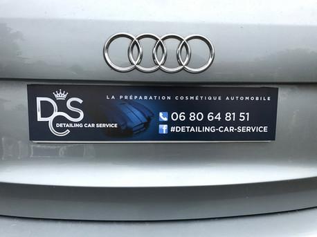 Cache plaque d'immatriculation Detailing Car Service