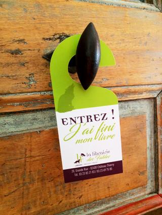 """StopPorte """"Entrez"""" de La Librairie Des Fables"""