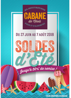Affiche Soldes été 2018 La Cabane De Néoli