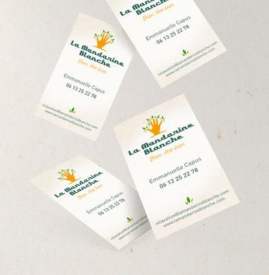 Cartes de visites La Mandarine Blanche