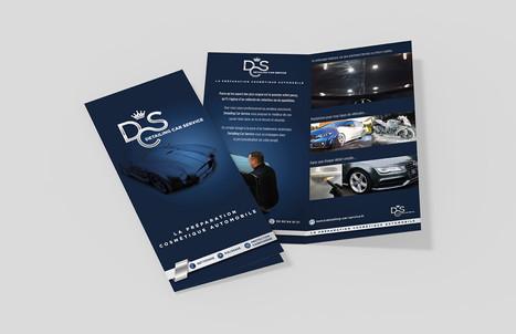 Dépliant de présentation des services Detailing Car Service