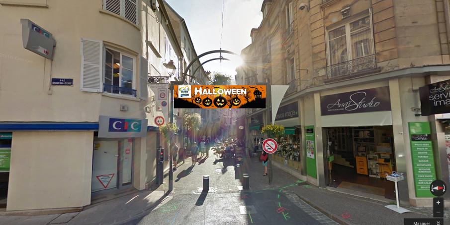 Banderole Halloween Y'a d'la vie au cœur de la ville