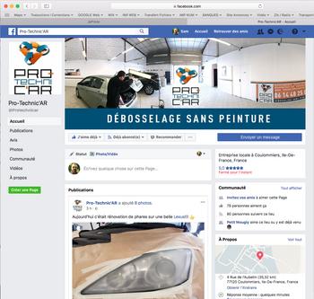 Habillage page FaceBook Pro Technic'Ar