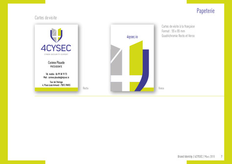 Charte graphique / Brand Identity 4CySec