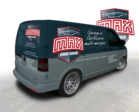 Simulation de l'habillage du transporteur VW Max Street Concept