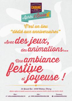 """Affiche concept """"Anniversaires"""" La Cabane Après l'École"""