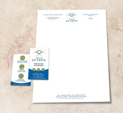 Tete de Lettre & Cartes de visite Alain Da Costa