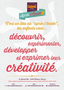 """Affiche concept """"Ateliers kids"""" La Cabane Après l'École"""