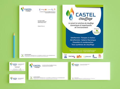 Supports de communication Castel Chauffage