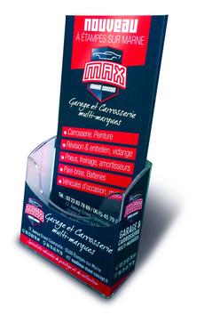 Présentoir de comptoir et Flyer Max Street Concept