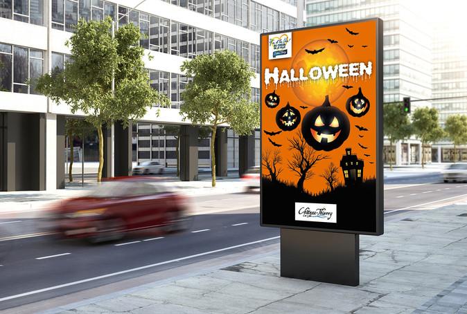 Affiche Halloween Y'a d'la vie au cœur de la ville Halloween