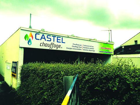 Facade bureaux Castel Chauffage