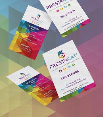 Cartes de visite PrestaCat
