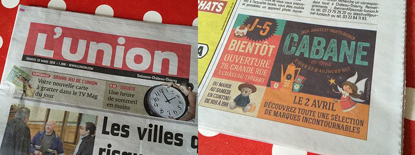 Parution presse quotidien La Cabane De Néoli