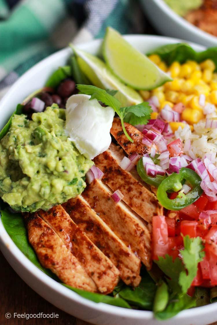 Chicken-Burrito-Bowl-with-Cilantro-Lime-