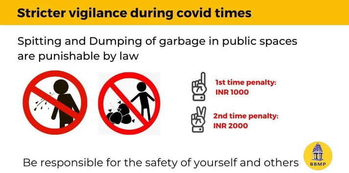2e. Karnataka BBMP - No spitting, garbag