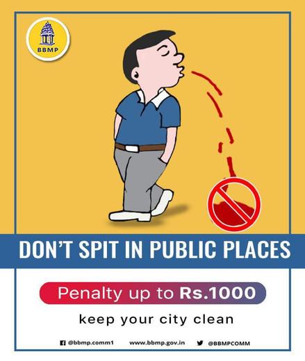 2b. Karnataka BBMP - Don_t spit in publi