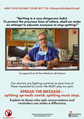16. Dr Devi Shetty says StopIndiaSpittin