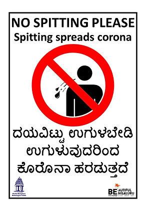 Karnataka - Stop India Spitting Poster K