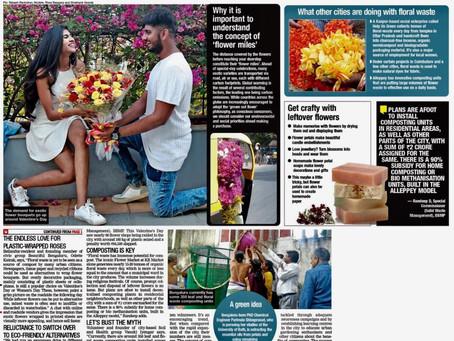 Beautiful Bengaluru turns the spotlight on PLASTICFREE BOUQUETS