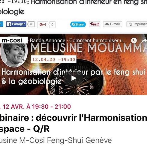 Webinaire : découvrir l'Harmonisation d'espace - Q/R